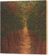 In The Lane Wood Print