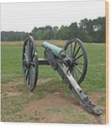 In The Line Of Fire - Manassas Battlefield Wood Print