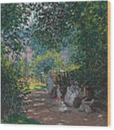 In The Park Monceau Wood Print