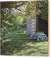 In The Shade Wood Print by Stephen Norris
