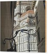 In The Shadow Of Il Duomo Wood Print