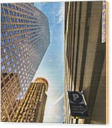 In The Shadow Of The Skyline District Wood Print by Dee Zunker