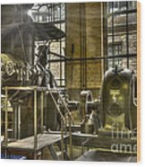 In The Ship-lift Engine Room Wood Print