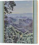 In The Valley Of The Lord Print Wood Print