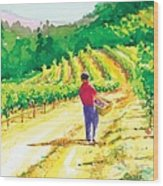 In The Vineyard Wood Print