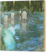 In The Water Wood Print