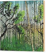 In The Woods Wood Print