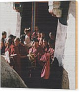 In Tibet Tibetan Monks 5 By Jrr Wood Print