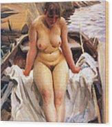 In Werners Rowing Boat Wood Print