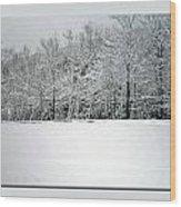 In Winter's Light Wood Print