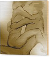 In Your Arms In Your Heart Wood Print by Carolyn Weltman