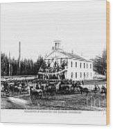 Inauguration Of Washington States First Governor 1889 Wood Print