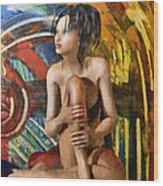Inca Woman Wood Print