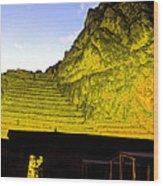 Incan Ruins Sacred Valley Peru Wood Print