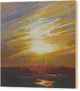 Incandescence Wood Print by Ed Chesnovitch