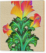Incendia Flowers #5 Wood Print