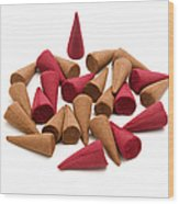 Incense Cones Wood Print