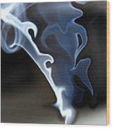 Incense Smoke Dance - Smoke - Dance Wood Print