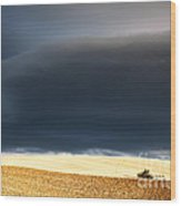 Incoming Storm Wood Print