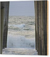 Incoming Tide At 32nd Street Pier Avalon New Jersey Wood Print