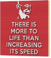 Increasing Speed Red Wood Print