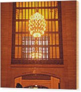 Incredible Art Nouveau Antique Grand Central Station - New York Wood Print