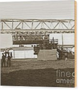 Incredible Hanging Railway  1900 Wood Print