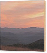 Incredible Sunset At Max Patch Wood Print