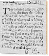 Indented Banknote, 1709 Wood Print