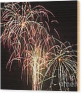 Independence Day Fireworks Wood Print