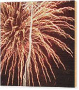 Independence Day Sparklers 2 Wood Print by Deborah Smolinske