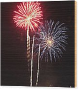 Independence Day Sparklers Wood Print