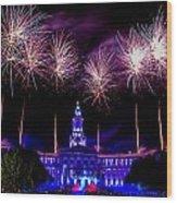 Independence Eve In Denver Colorado Wood Print