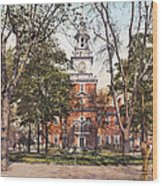 Independence Hall 1900 Wood Print