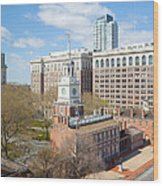 Independence Hall Philadelphia Wood Print by Kay Pickens
