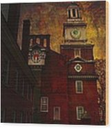 Independence Hall Philadelphia Let Freedom Ring Wood Print