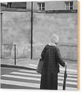 Independence - Street Crosswalk - Woman Wood Print
