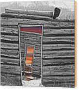 Independent Sunset Wood Print