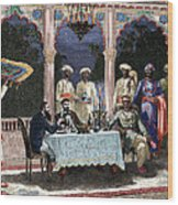 India  British Colonial Era  Banquet At The Palace Of Rais In Mynere Wood Print