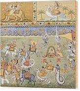 India. Jodhpur. Mehrangarh Fort. Detail Wood Print