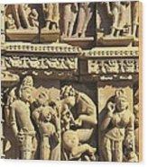 India. Khajraho. Jain Temple Wood Print