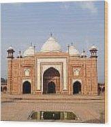 India, Next To Taj Mahal Agra, Taj Wood Print