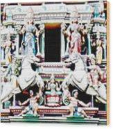 India Religion Wood Print
