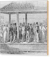 India Train Station, 1854 Wood Print