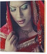 Indian Beauty Wood Print