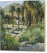 Indian Canyon Palms Wood Print