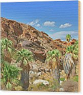 Indian Canyons View In Palm Springs Wood Print