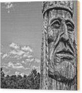 Indian Chief Charlestowne Landing Wood Print