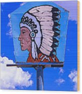Indian Chief Sign Wood Print