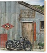 Indian Chout At The Old Okains Bay Garage 1 Wood Print